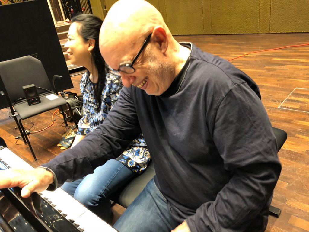 Maki and Dennis record their new Philip Glass Album