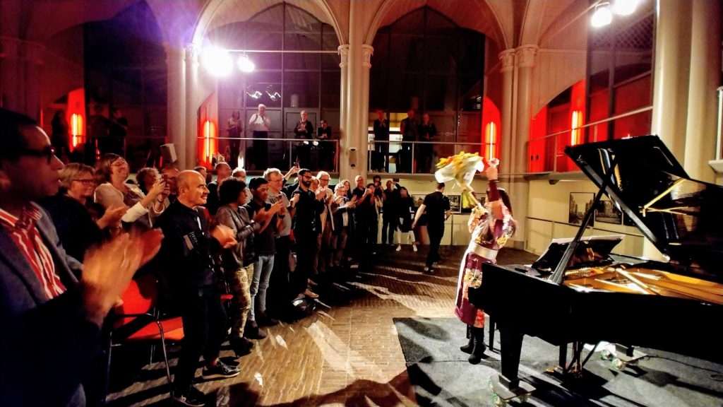 Maki Namekawa at Amstelkerk, Amsterda photo by Wim Oorthuizen