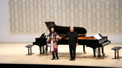 Namekawa / Davies | Maki Namekawa and Dennis Russell Davies at Bruckner University Linz