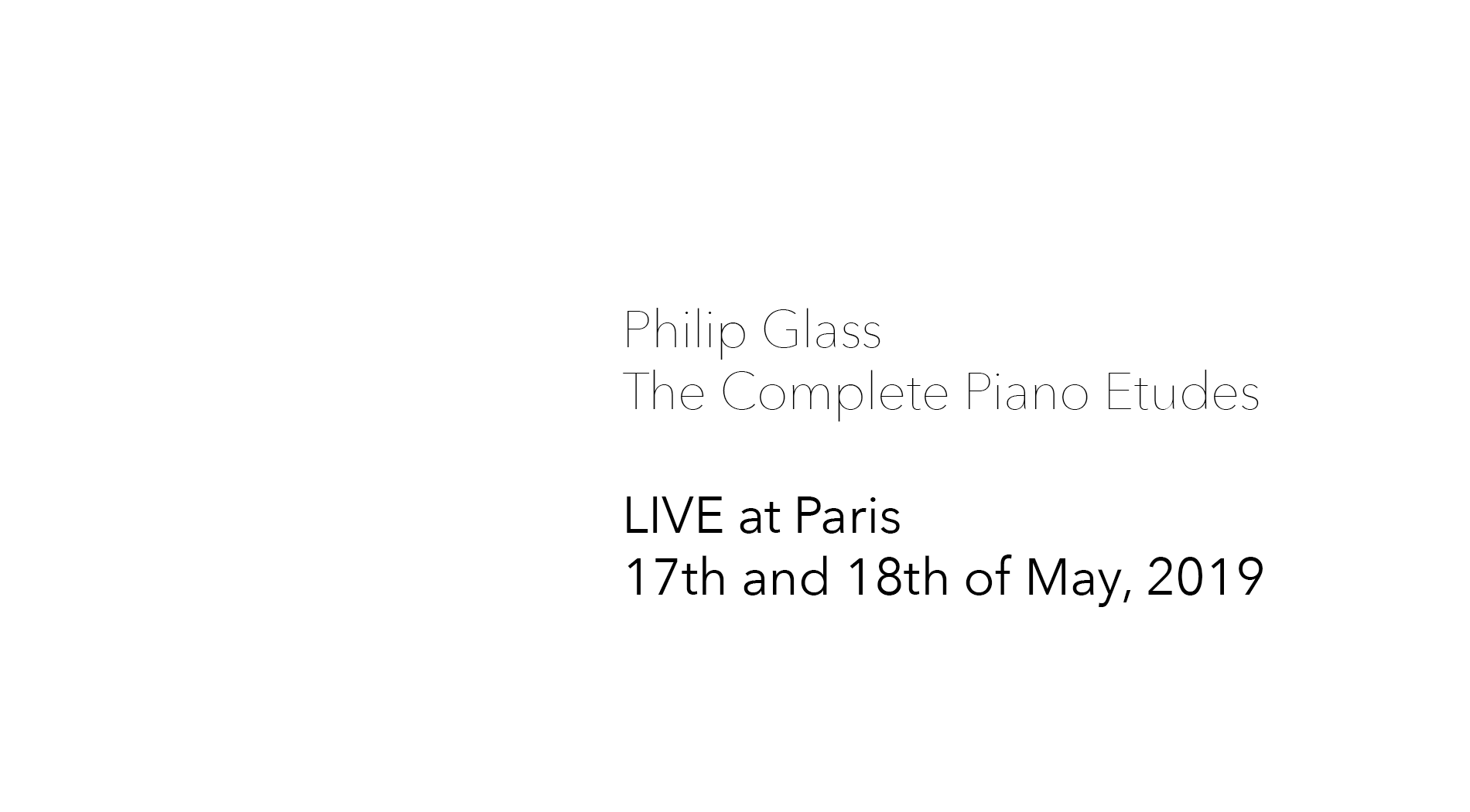 The Complete Piano Etudes LIVE