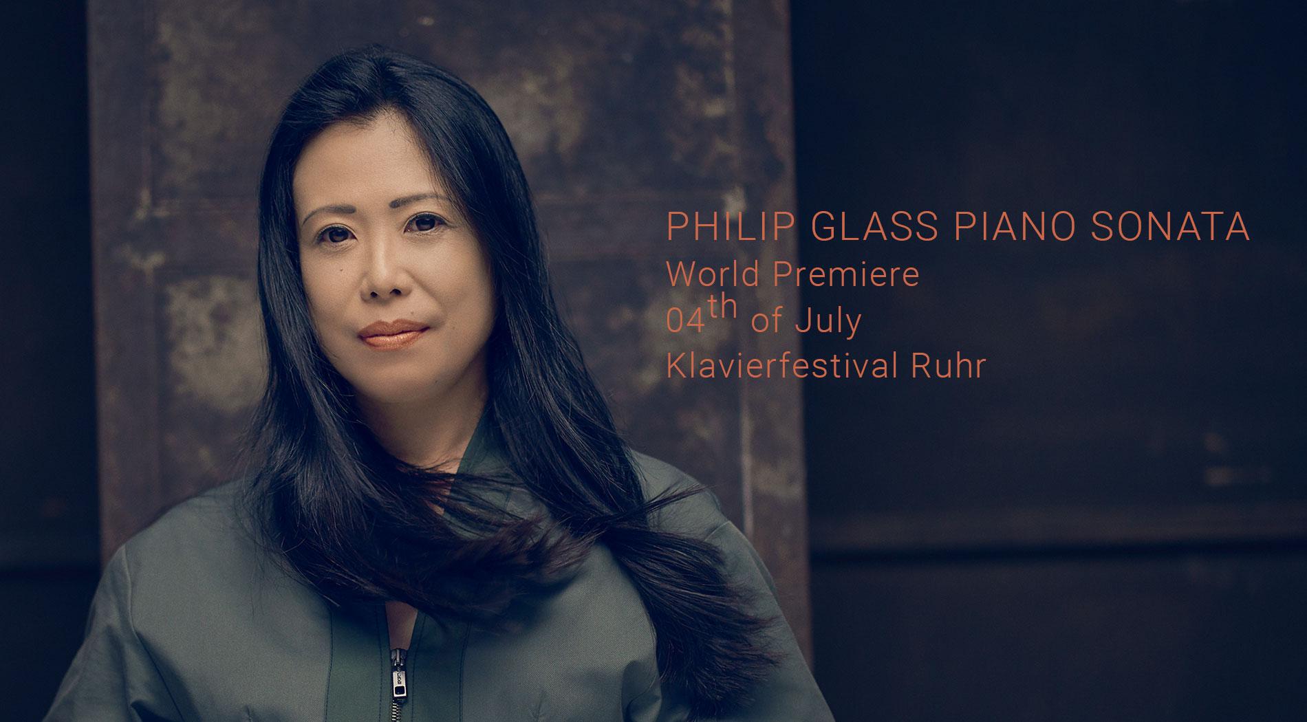 Maki Namekawa to premiere the first Piano Sonata by Philip Glass