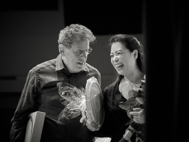 Philip Glass and Maki Namekawa © Andreas H. Bitesnich